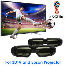 2x 3D Glasses Active Bluetooth for Panasonic Samsung 3D TV and Epson Projector