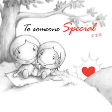 """""""To Someone Special"""" Cupids Birthday Card for him or her have blissful picnic"""