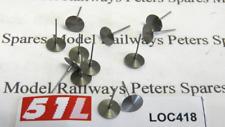 """51L LOC418 18"""" (6.00mm) Steel Buffer Heads (Pk12) OO Gauge"""