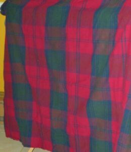 FLANNEL Maroon PLAID Double/Full BED SET 3 Pieces FITTED FLAT Sheets PILLOW CASE
