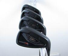Cobra Golf KING Forged TEC Black Iron Set 7-PW Stiff Flex AMT White Steel Shafts