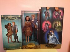 Disney Store Limited Edition Pocahontas John Smith Designer Fairytale Doll Set