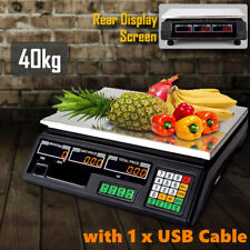 More details for 40kg industrail commercial store price scales marketing food veg fruit weighing