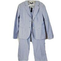 NWT Brooks Brothers 346 Caroline Fit Stripe Blazer Jacket 12P & Pants 8P $169.50
