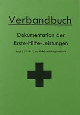Verbandbuch für Betriebe & Organisationen DIN A5 - GRÜN Stand 2017