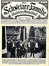 Zum Besuch des österreichischen Kaisers in Rohrschach Baron von Heidler... 1909