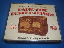 COFFRET 3 CD / RADIO-CITE POSTE PARISIEN les radios privées d'avant-guerre EX
