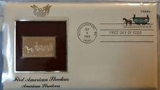 First American Streetcar American Streetcars First Day Issue Gold Stamp in prote