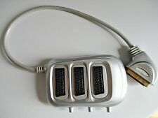 SWITCHED SCART  3-WAY SWITCHBOX FOR USE WITH TV, DVD, XBOX, ETC.