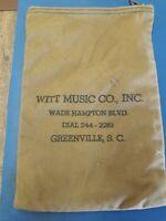 Vintage Witt Music company Canvas Money Bag Used Vintage