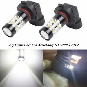 2x 100W LED Fog Lights Bulb for FORD Mustang GT 2005-2012 H10 9145 6000K White