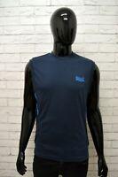 Maglia Blu Uomo LONSDALE Taglia Size S Maglietta Canottiera Shirt Man Cotone
