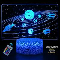 HYODREAM Solar System 3D Optical Illusion Lamp Universe Space Galaxy Night Light