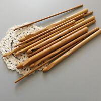 12pcs/set 3-10mm Wood Needle Knitting Crochet Hook Bamboo Yarn Sewing Tool DIY