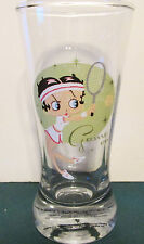 NEW   BETTY BOOP   GAME ON    4 INCH FLUTED SHOT GLASS