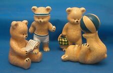 Danbury Mint Collectible Teddy Bears Art by Pam Storey 1980's China Figurines