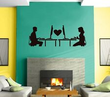 Wall Sticker Vinyl Decal Falling in Love Online Romance Internet  Mural z464