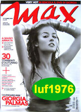 Max-'05-GIORGIA PALMAS,Johnny Depp,Melissa Satta,James Dean,Elena Bouryka,A Cupo