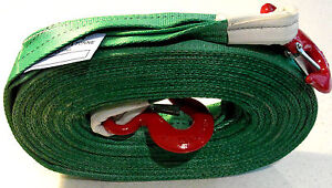 New PRO 4x4 HEAVY DUTY 10M RECOVERY WINCH TOW STRAP STROP ROPE HOOKS RATED 8 TON