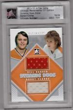 BILL BARBER BOBBY CLARKE 11/12 ITG Ultimate DUAL Jersey Philadelphia Flyers