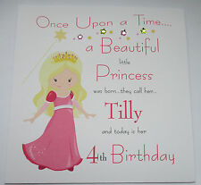 Personalised Birthday Card 1st  2nd 3rd 4th 5th Any Age - Princess