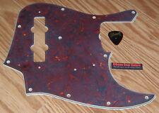 Fender Jazz Bass Pickguard 4 Ply Roadworn Tortoise Guitar Parts Pick Project J
