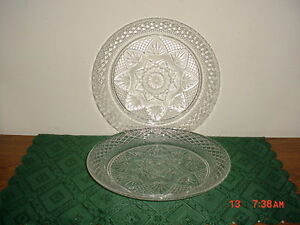 """2-PC CRISTAL D'ARQUES DURAND 10 1/8"""" CRYSTAL DINNER PLATES/TRADITIONAL/FREE SHIP"""