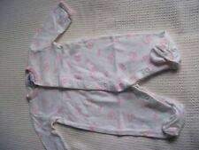 Baby Girl 0-3 mnths Jasper Conran White Cotton Babygrow with Pink Rabbits