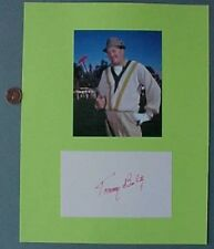 US Open Champ-Golf Hall of Famer Terrible Tommy Bolt signed autograph/photo set*