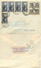 1798 - Repubblica - Francobolli Sardegna + Italia al lavoro su busta, 13/10/1951