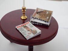 4 Miniature  vintage   'PLAYBOY'    MAGAZINES - Dollhouse 1:12 scale OPENING