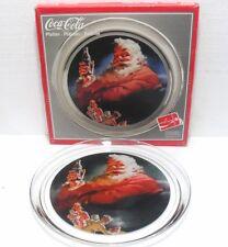 """Coca-Cola - """"BABBO NATALE"""" - anno 1994-VASSOIO TONDO in vetro"""