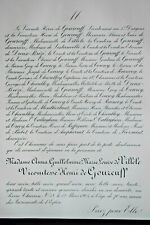 HENRI DE GOURCUFF Villele Dreux Breze FAIRE PART Courcy Thieulloy Roffignac 1905