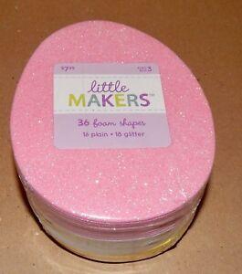 Easter Foam Egg Shapes 36 Each Plain & Glitter Little Makers Teacher Pack 163Z