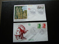 FRANCE - 2 enveloppes 1er jour 1984 (liberte/palais facteur chev) (cy88) french