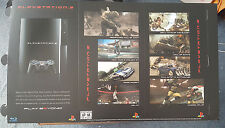 Official *New* PlayStation 3 Console Launch Promo Trifold Counter Display