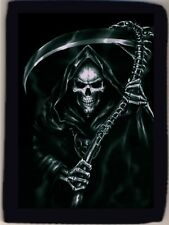 Grim Reaper Sickle Death is Here Soul Taker Trifold Wallet Grab Closure NEW