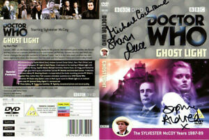 Doctor Who: GHOST LIGHT DVD Cover Signed by the Cast