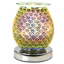 Desire Aroma Oval Wax Melt Burner Touch Lamp 3D Lights in Oriental Waves Design