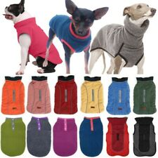 Pet Dog Coat Fleece Jacket Outfits Jumper Romper Pullover Hoodie Winter Warmer