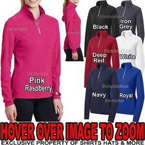 Ladies Textured Wicking Jacket 1/4 Zip Stretchy  Wind Shirt XS-XL, 2XL, 3XL, 4XL