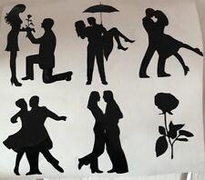 Vinyl Sticker Couples Silhouettes Love Romance Wedding Engagement Cards Crafts