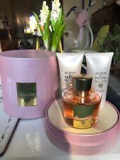 Rosa Nobile Acqua Di Parma 100ml EDP Gift Set Body Cream/ Bath & Shower Gel 75ml