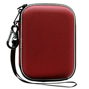 Lacdo Hard Drive Carrying Case Western Digital My Passport Ultra Elements Red