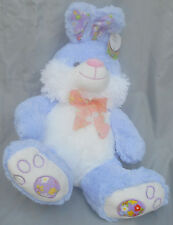 "Bunny Rabbit Violet Blue Sitting 18""Plush Hug Luv New 2015 Easter Eggs on Paws"