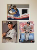 Gary Sanchez Rookie Card LOT (2) + RELIC - 2017 AS Game Jersy - NEW YORK YANKEEs