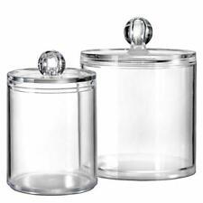 Bathroom Vanity Storage Organizer Canister Holder Apothecary Jars Set Suitable
