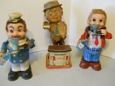 3 VINTAGE  BATTERY POWERED WINDUP DRINKERS TOYS-PARTS