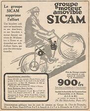 Y7591 Groupe moteur amovible SICAM - Pubblicità d'epoca - 1921 Old advertising