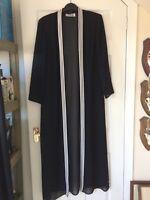 Joseph Ribkoff size 14 long black / white edge evening jacket REDUCED